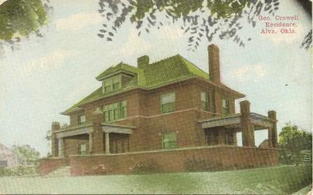 Postcard of my great-grandparents' house in Alva, Oklahoma, circa 1905