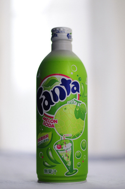 japanlove:  Melon Soda by meg1977 on Flickr.  I miss this stuff a lot.