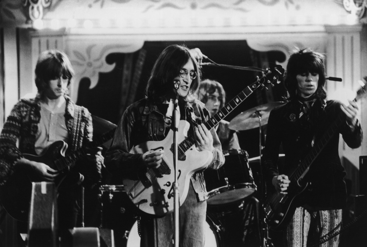 Eric Clapton, John Lennon, Mitch Mitchell and Keith Richards.