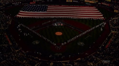 jodymichael:  The New York Mets dimmed the lights for their pregame ceremony tonight. (Screen-grab by @cjzero)
