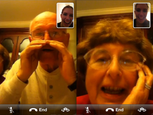 "Sunday Night FaceTime with the Family: Grandparents Edition ""Can you hear me? I am from the horse and buggy generation"""