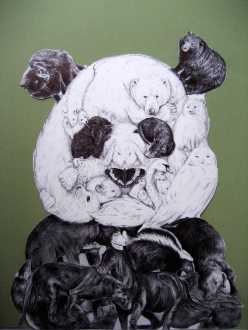 fuckyeahgiantpanda:  Ball point pen project, via Feliciachiao.