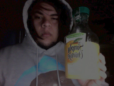 Sick as shit, trying to down this whole thing of OJ..also, I don't think I've aged a day over 18 lol