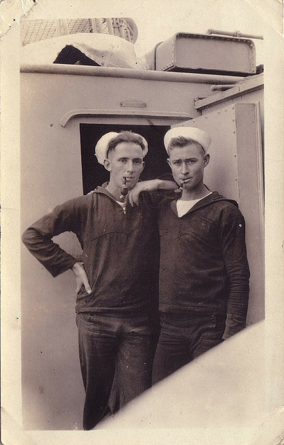 "Two Pipe Smoking Sailor Buddies / ""Real Sailors Smoke A Pipe !"" This photo is included in my Gallery / ""Pipe Smoking Sailor"" on Flickr; see the Gallery here: http://www.flickr.com/photos/7437991@N08/galleries/72157623203206194/"