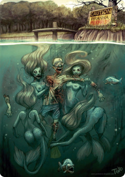 Piranha Mermaids by Timo Grubing
