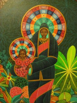 "annierosier:  ""Madonna and Child"" by Haitian artist Ismael Saincilus"