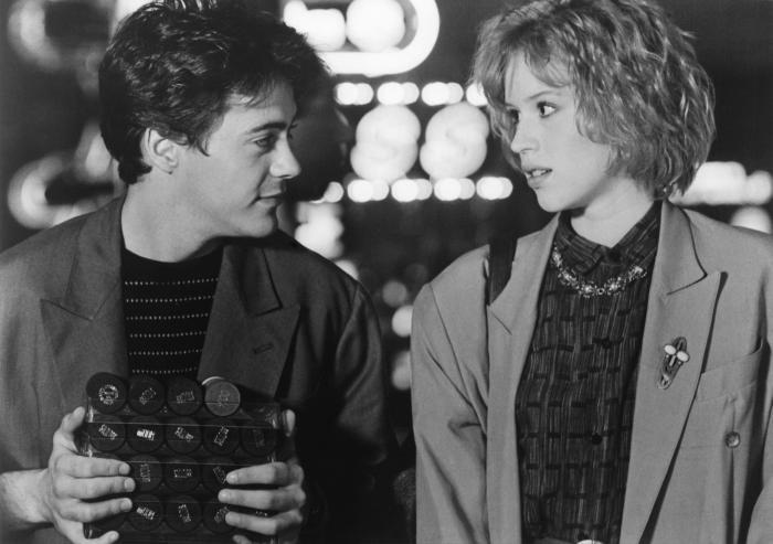 thecaveofthegoldencalf:  Robert Downey Jr. and Molly Ringwald