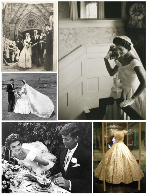 ♥ John Fitzgerald Kennedy marries Jacqueline Lee Bouvier ♥ Newport, RI ~ September 12, 1953One of the most prominent marriages of the 20th century.