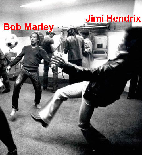 "Bob Marley and Jimi Hendrix playing ""Keep up"". Yes."