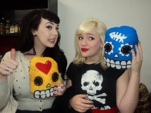 Skulls at Two Bit Villians! Naomi and I <3