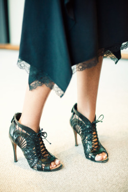in her shoes. nina garcia as captured by jamie beck. new york fashion week.