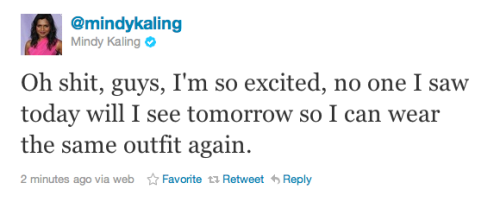 hat-stall / lixstorms:  Mindy Kaling just gets me.