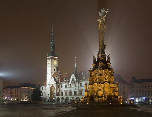 allthingseurope:  Olomouc, Czech Republic at night (by Mahdib)