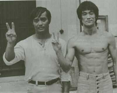 mikkomiks:   Bruce Lee and his Filipino friend and Sparring Partner Dan Inosanto.