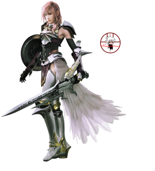 Lightning (Claire) Farron from Final Fantasy 13-2.