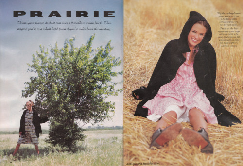 More from the October 1994 issue; a pretty PRAIRIE-themed spread!