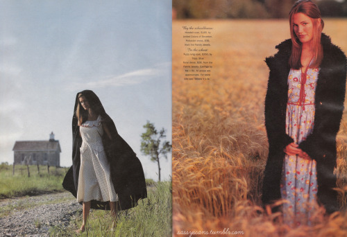 More from the October 1994 issue, and the last two pages of the pretty PRAIRIE-themed spread.