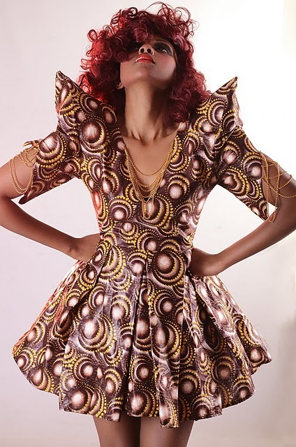 From Kenyan designer Wambui Mukenyi's new collection, modelled by Nancie Mwai Photo by Leon Muli Check out more of Wambui Mukenyi's work here
