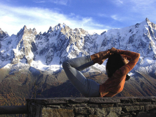 fuckyeahashtangayoga:  Yoga in the French Alps! From kajo55 on flickr