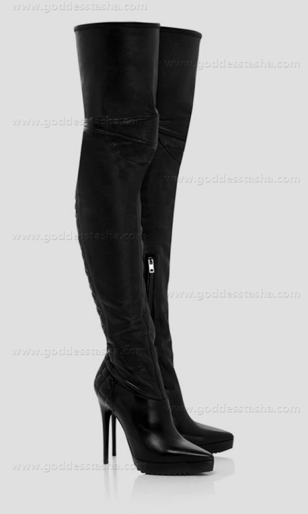 goddesstasha:  Burberry Nappa Leather Stiletto Thigh-high Boots Goddess Tasha Only High Heels