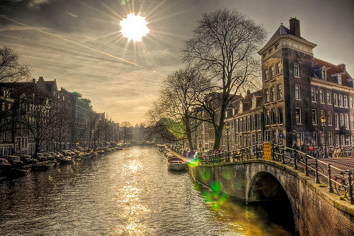 allthingseurope:  Amsterdam featuring lens flare/smiley face (by A r l e t t e (reloaded))