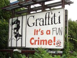 Graffiti: It's a FUN crime! (via Happy Place)