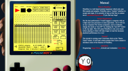 PulseBoy: A 8-bit Tracker. My friend, Roger Hicks created this cool tracker. It's user friendly, try it out!