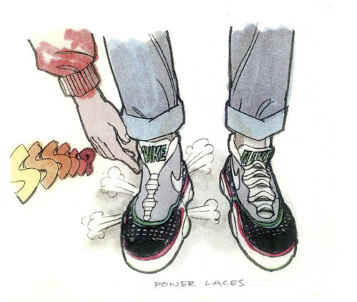 Waaay Back To The Future: Nike's 23-Year Journey To Make McFly's Shoes Real  Nike's Tinker Hatfield not only designed the original shoe concept for  the film, he made it a reality 23 years later. Also, find out why the MAG  doesn't have power laces.