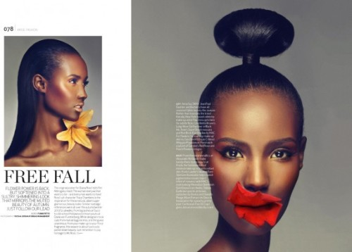 [MY FAVOURITE THING TODAY] Loved this beauty shoot in Arise magazine. Fatima is guh-orgeous! Pic via.