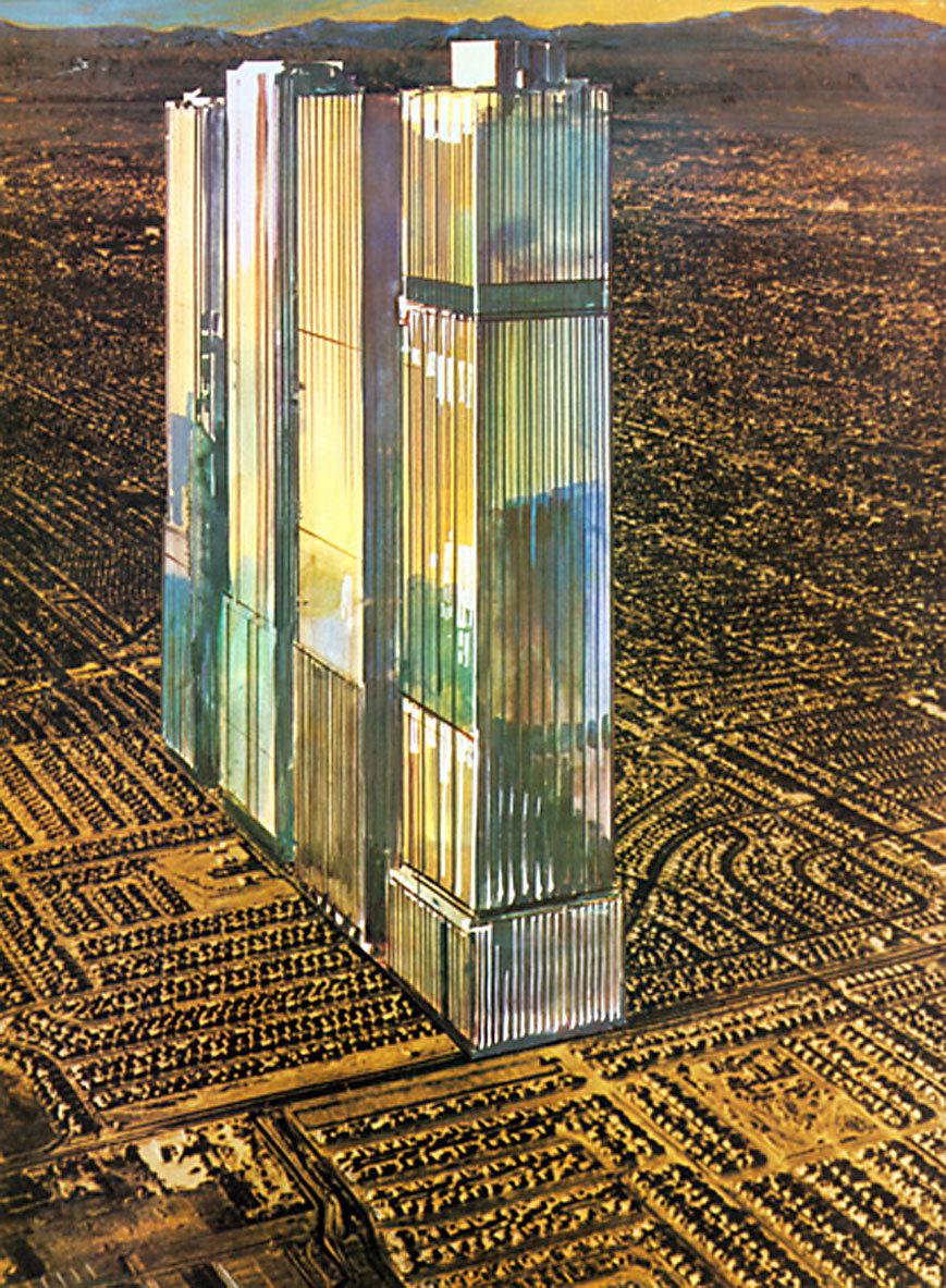 Gunther Radtke's 1974 depiction of what the future Los Angeles might look like