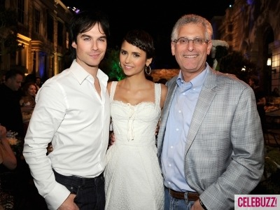 One our fave TV Vampire Couples, Nina Dobrev and Ian Somerhalder, were spotted at CW's Fall TV party. Can't wait for the new season!