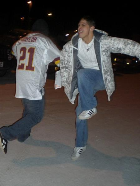 Reefer and I skipping around through the ice in alaska lmaooo fucking bromance yet again