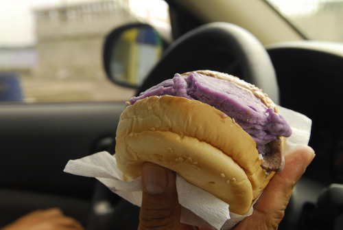 vivafilipinas:  Ube Ice Cream Sandwich