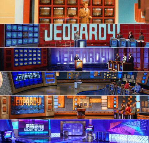 "hennnypotter:  imwithkanye:  The Evolution of Jeopardy!  GQ looks at how the changes in the game show reflects our nation's shifting intelligence and how it serves as a real-time comparison for our changing culture.  Double Jeopardy! (Then)  ""In 1991, the areas of knowledge contestants were expected to be prepared for were straightforward, classic, and broad."" ""Medieval Times""  ""Technology""  ""World Travel""  ""Secretaries of Defense""  ""Horses""   ""Authors' Dedications""  Double Jeopardy! (Now)  ""The 2011 edition offers two fairly specific kinds of knowledge (book-to-movie adaptations and the aforementioned ""Chairs""), wordplay, and two jokes, one with a Jewish pedigree."" ""Born and Died""  ""Writers on Film""  ""Like Some Coffee?"" ""Chairs""  ""My Son, The Doctor""   ""Get 'Set'""   blog me about it."