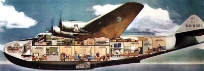 cutaway of a pan-am flying boat. via scouting NY