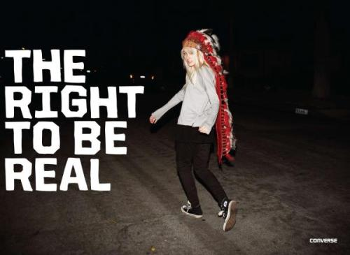 THE RIGHT TO BE REAL - CONVERSE Advertising Agency: in House Converse
