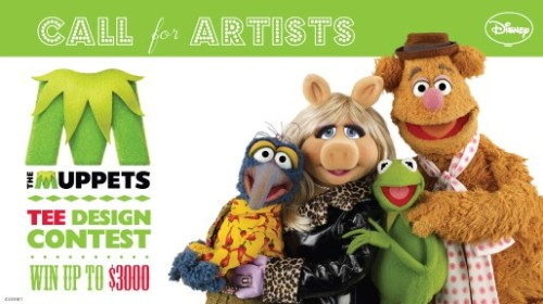 ARTISTS! Our Muppets Design Contest is NOW OPEN! From television show staples to motion-picture magic,  The Muppets have journeyed through an array of adventures delivering  smiles and laughter to us all for decades.  To celebrate The Muppets  journey back to the big screen, WeLoveFine is hosting a design contest  that you, fans of Muppets can be part of.  All you need to do is create  Muppets inspired designs in the theme of adventure and submit them to us  for a chance to win cash and prizes as well as a chance to get your  design printed on a tee! GRAND PRIZE: One (1) Grand Prize will win up to $3,000. Grand prize award will increase based on the number of votes cast in the voting period, so be ready to tell all your friends and family to vote for your design! FIRST PRIZE: One (1) First Prize will win a $200 gift card to WeLoveFine.com RUNNERS-UP: Three (3) Runners-Up will each win $100 gift cards to WeLoveFine.com *All winning designs will be put into consideration for printing (Subject to Licensor Approval) Submissions are open NOW through October 3! We can't wait to see your stuff! PLEASE REBLOG!