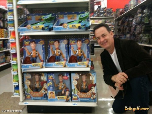 Tom Hanks Hangs with Woody After that he spent 5 days hanging with the volleyballs calling them all Wilson.