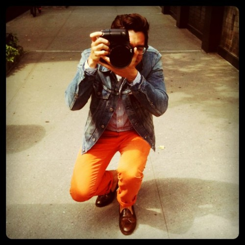 Totally in love with @FECastleberry's orange pants!  matchbookmag:  @FECastleberry strikes a pose… (Taken with instagram)