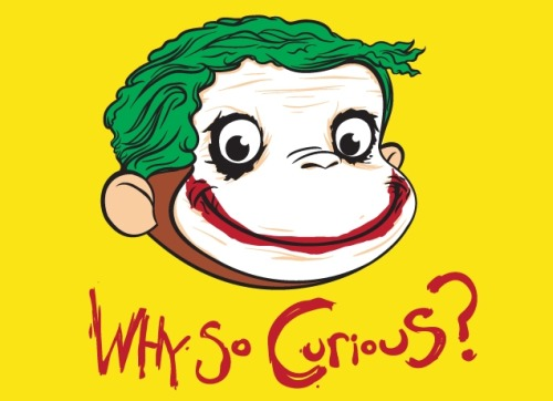 "gamefreaksnz:  ""Why So Curious?"" REPRINT USD$20 from Threadless"
