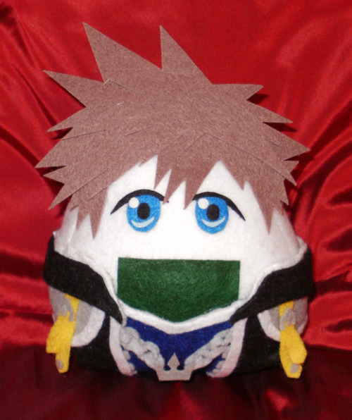 Sora in Onigiri-Land!  Quick, Sora!  The Heartless have stolen the sacred Soy Sauce!  www.merlinemrys.etsy.com