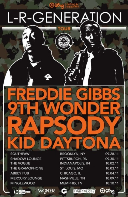 LRG announces the LR-Generations Tour with 9th Wonder, Freddie Gibbs, Rapsody, & The Kid Daytona beginning in Brooklyn.   •2nd stop — Pittsburgh. grab tickets here