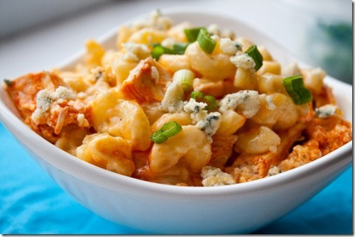 Buffalo Chicken Macaroni and Bleu Cheese with Cheddar Recipe