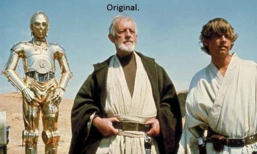 krazykitsune:  ravenclaw-mormont:  The changes made to the new Star Wars blu-rays  I wish this wasn't so accurate.  lens flaaare