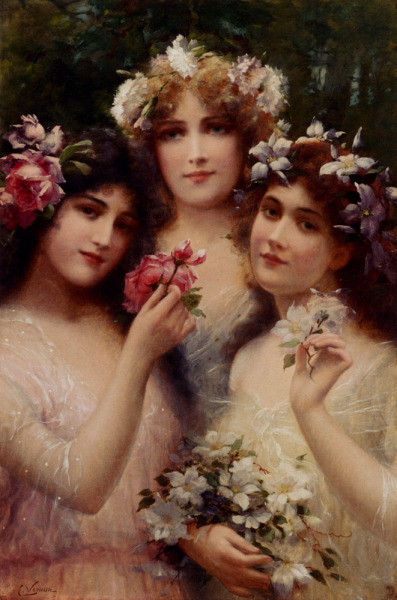 labellefilleart:  The Three Graces, Emile Vernon