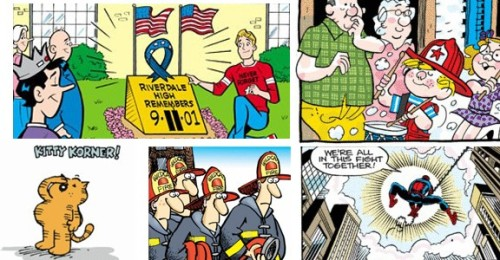 "Newspaper Cartoonists Observe 9/11 Anniversary  The writers and artists of America's newspaper ""funnies"" accepted the seemingly daunting challenge of observing this past Sunday the tenth anniversary of the terrorist attacks of September 11, 2001. King Features Syndicate, Creators Syndicate, Tribune Media Services, Universal Press Syndicate and Washington Post Writers Group organized the effort, which includes nearly 100 strips whose aim was to offer ""solidarity, solace and sympathy,"" according to King Features' Brendan Burford, who spoke to The Los Angeles Times.Thanks to the prodigious list-making of The Comics Reporter, we've been able to read the majority of the 9/11 remembrance strips, all of which express the central themes of the endeavor with the level of sincerity the occasion demands. Those who managed to do so while maintaining their strips' or characters' traditional idioms impressed us the most. See some of our favorites at ComicsAlliance."