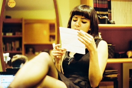 love letter, analog (model Sofia Santos) by Gonçalo Lamas