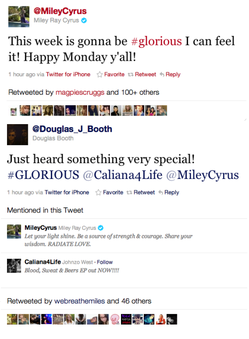Miley and Douglas have posted this on their twitters today.. they both star in the LOL remake so maybe they're announcing a theater release date or the trailer might be coming out!!  The tweets: this and this