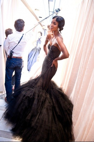vogue:  BACKSTAGE: Zac Posen Spring 2012