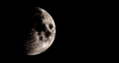 Here is a photo I took of the moon with my new Canon Telephoto lens attachment! As a massive space nerd, I don't know how I have gone so long without owning one of these lenses. I love being able to take my own moon shots!  This is the Eastern side of the Moon! The long, large black smudge is Mare Serenitatis (Sea of Serenity) and Mare Tranquillitatis (Sea of Tranquility) The three black spots are Mare Nectaris (Sea of Nectar), Mare Fecunditatis (Sea of Fecundity) and Mare Crisium (Sea of Crises). The two most prominent white spots you can see are craters Stevinus and Langrenas. The landing spot of Apollo 11 is at the Southwestern extreme of Mare Tranquillitatis. The Lake of Sleep, Marsh of Sleep, Sea of Snakes, Sea of Waves, and Sea of Foam are also visible as are the mountain ranges Montes Alpes and Vallis Alpes. The manned lunar landings of Apollo 16 and Apollo 17 are also visible.  Image created and owned by http://vanessahumphrey.tumblr.com/